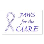 Periwinkle Cure Rectangle Sticker