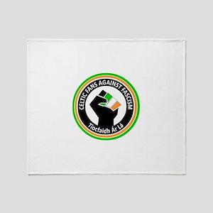 Celtic Fans Against Fascism Throw Blanket