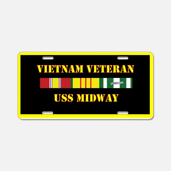 USS Midway Aluminum License Plate