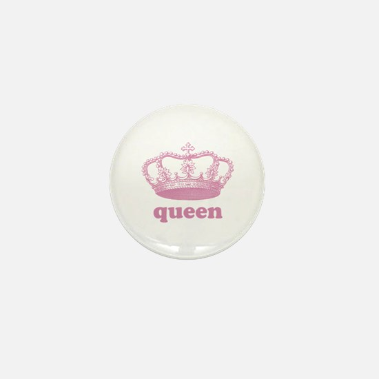 queen (rosy pink) Mini Button