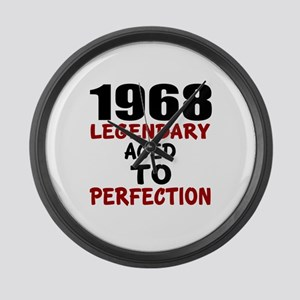 1968 Legendary Aged To Perfection Large Wall Clock