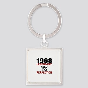 1968 Legendary Aged To Perfection Square Keychain
