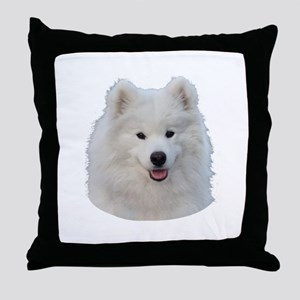 Samoyed face Throw Pillow