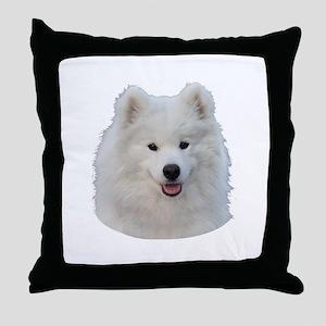 Samoyed face Throw Pillow