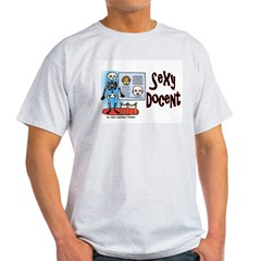Sexy Docent Museum Worker Ash Grey T-Shirt