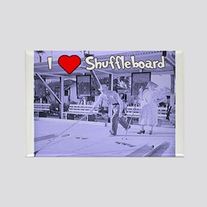 I Love Shuffleboard Rectangle Magnet
