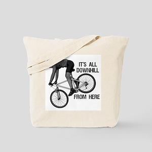 Downhill Mountain Biker Tote Bag