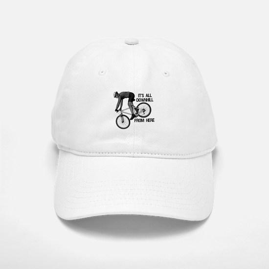 Downhill Mountain Biker Baseball Baseball Cap