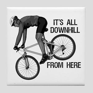 Downhill Mountain Biker Tile Coaster