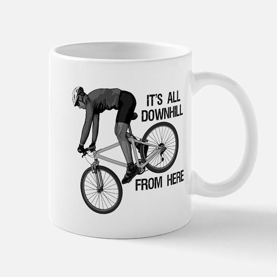Downhill Mountain Biker Mug