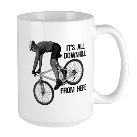 Downhill Mountain Biker Large Mug