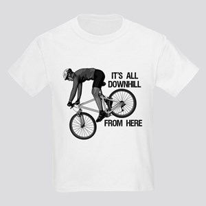 Downhill Mountain Biker Kids Light T-Shirt