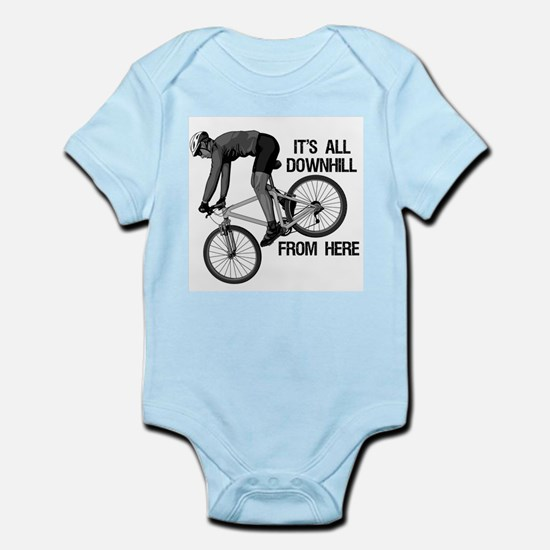 Downhill Mountain Biker Infant Bodysuit