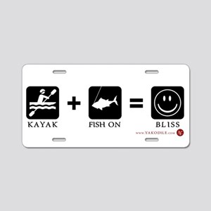 Kayak + Fish On = Bliss License Plate