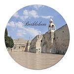 Bethlehem Round Car Magnet