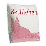 Bethlehem Burlap Throw Pillow