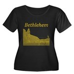 Bethlehe Women's Plus Size Scoop Neck Dark T-Shirt