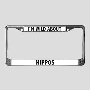 Hippo License Plate Frame