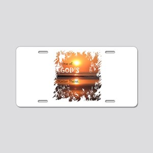 God's Master pieces Aluminum License Plate