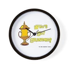 Cremation Grandma Urn Wall Clock