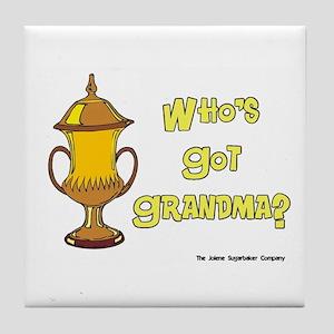 Cremation Grandma Urn Tile Coaster