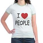 I heart people Jr. Ringer T-Shirt