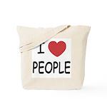 I heart people Tote Bag