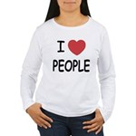 I heart people Women's Long Sleeve T-Shirt