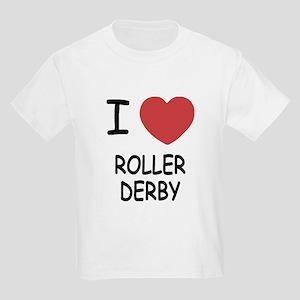 I heart roller derby Kids Light T-Shirt