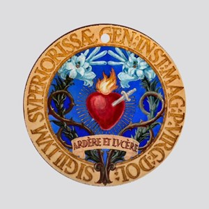 Immaculate Heart Emblem Ornament (Round)
