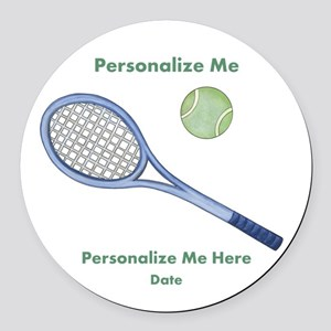 Personalized Tennis Round Car Magnet