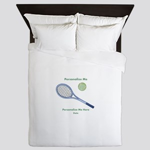 Personalized Tennis Queen Duvet