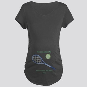 Personalized Tennis Maternity Dark T-Shirt