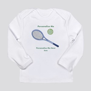 Personalized Tennis Long Sleeve Infant T-Shirt