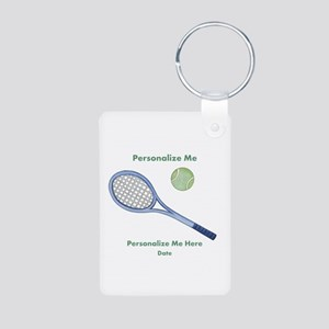 Personalized Tennis Aluminum Photo Keychain