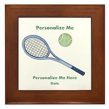 Personalized Tennis Framed Tile