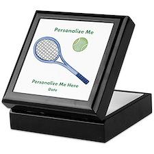 Personalized Tennis Keepsake Box