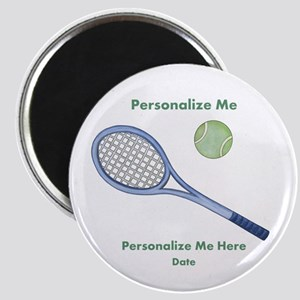 Personalized Tennis Magnet