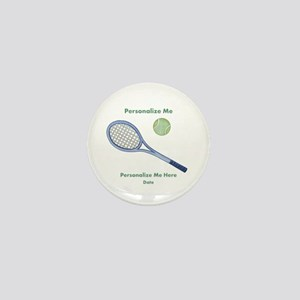 Personalized Tennis Mini Button