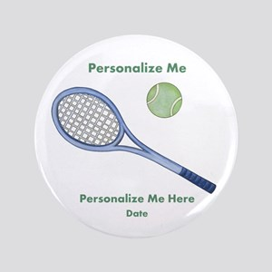 "Personalized Tennis 3.5"" Button"