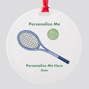 Personalized Tennis Round Ornament