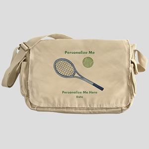 Personalized Tennis Messenger Bag