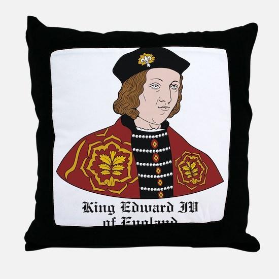 King Edward IV of England Throw Pillow
