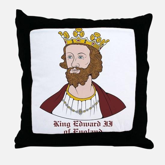 King Edward II Throw Pillow