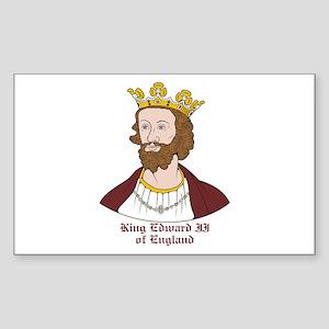 King Edward II Rectangle Sticker