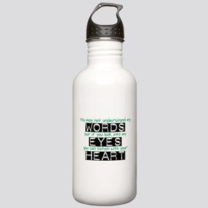 Listen with your Heart Stainless Water Bottle 1.0L