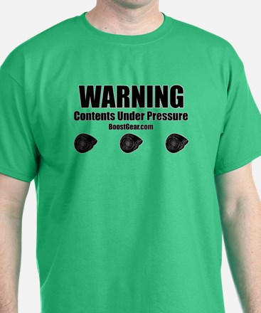 WARNING Contents Under Pressure Turbo Shirt