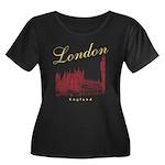 London Women's Plus Size Scoop Neck Dark T-Shirt