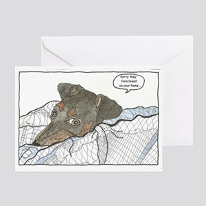 Sorry they Foreclosed Greeting Card