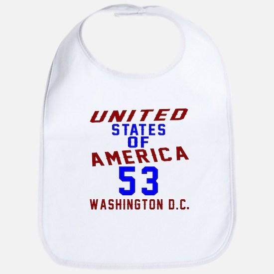 America 53 Birthday Cotton Baby Bib